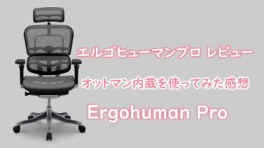 エルゴヒューマンプロ レビュー オットマン内蔵型を使ってみた